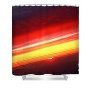 Saturn On Earth Sunset Shower Curtain