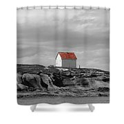 Saturna Red Shower Curtain