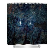 Saturnine Night Shower Curtain