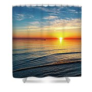 Sauble Beach Sunset 4 Shower Curtain