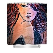 Saucy Lady Shower Curtain