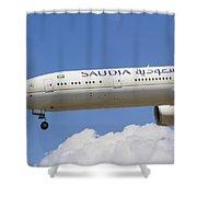 Saudi Arabian Airlines Boeing 777 Shower Curtain