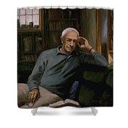 Saul Bellow Shower Curtain