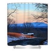Sauratown View In Winter Shower Curtain