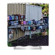 Sausalito Mailboxes Shower Curtain