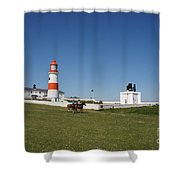 Souter Lighthouse And Foghorn. Shower Curtain