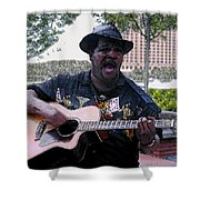 Savanna Blues Man Shower Curtain