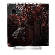 Savanna Georia Colonial Park Cemetery Color Infrared 500 Shower Curtain