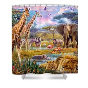 Savannah Animals Shower Curtain