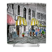 Savannah Georgia River Street 2 Painting Art Shower Curtain