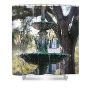 Savannah Green Shower Curtain
