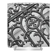 Savannah Pattern Black And White Shower Curtain