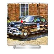 Savannah Police Car 1953 Chevrolet  Shower Curtain