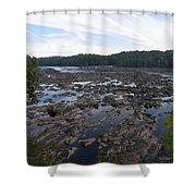 Savannah River At Evans Shower Curtain