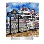 Savannah River Queen Boat Georgia Shower Curtain
