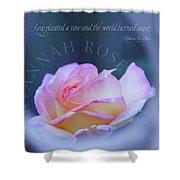 Savannah Rose 3 Shower Curtain