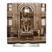 Savannah Sepia - Cotton Exchange Building Shower Curtain