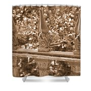 Savannah Sepia - Finials Shower Curtain
