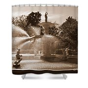 Savannah Sepia - Forsyth Fountain Shower Curtain
