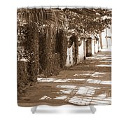 Savannah Sepia - Sunny Sidewalk Shower Curtain