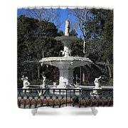 Savannah Square Fountain Shower Curtain