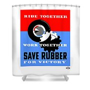 Save Rubber For Victory - Wpa Shower Curtain