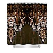 Save The Cheetahs Shower Curtain