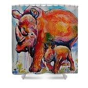 Save The Rhinos Shower Curtain