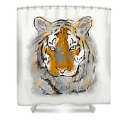 Save The Tiger Shower Curtain