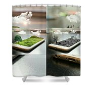 Save Tree Shower Curtain