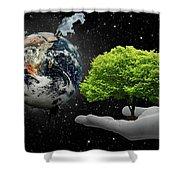 Save Tree Shower Curtain