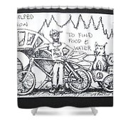 Saved By Dog Shower Curtain