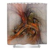 Saving Omega - Fractal Art Shower Curtain