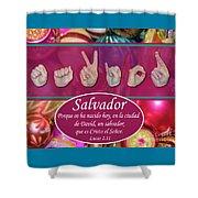 Savior Spanish Shower Curtain