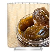Savon Noir Black Soap Portion Shower Curtain