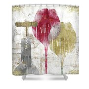 Savory Ruby Shower Curtain