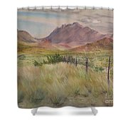 Saw Tooth Mountain Shower Curtain