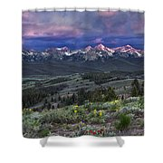 Sawtooth Sunrise Shower Curtain