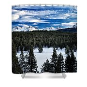 Sawtooth Winter Shower Curtain