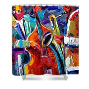 Sax And Bass Shower Curtain