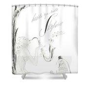 Sax Girl Shower Curtain