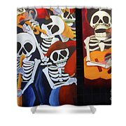 Sax Guitar Music Day Of The Dead  Shower Curtain