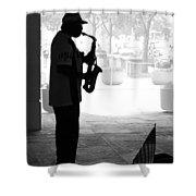 Sax Man Shower Curtain