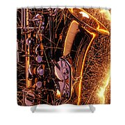 Sax With Sparks Shower Curtain by Garry Gay