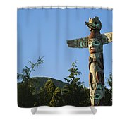 Saxman Totem Park Shower Curtain by Greg Vaughn - Printscapes