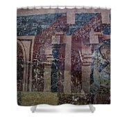 Saxon Medieval Frescoes, Transylvania Shower Curtain