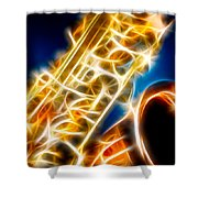 Saxophone 2 Shower Curtain
