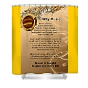 Saxophone Photograph Why Music For T-shirts Posters 4827.02 Shower Curtain