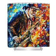 Saxophonist Shower Curtain