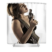 Say It One More Time Shower Curtain